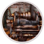 Machinist - Steampunk - 5 Speed Semi Automatic Round Beach Towel