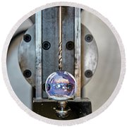 Machinists Drill With Precision Round Beach Towel