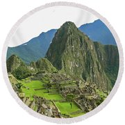 Machu Picchu - Iconic View Round Beach Towel