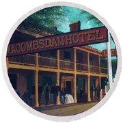 Macomb's Dam Hotel Round Beach Towel