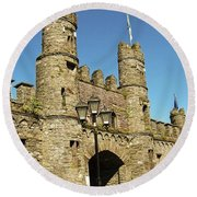 Macroom Castle County Cork Ireland Round Beach Towel