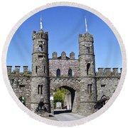 Macroom Castle Ireland Round Beach Towel