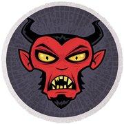 Mad Devil Round Beach Towel by John Schwegel