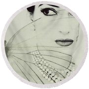 Madam Butterfly - Maria Callas  Round Beach Towel
