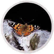 Madame Butterfly Round Beach Towel
