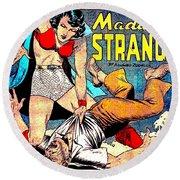Madame Strange Comic Super Hero Round Beach Towel