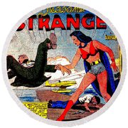 Madame Strange Female Comic Super Hero Round Beach Towel