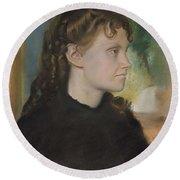 Madame Theodore Gobillard Yves Morisot, 1838-1893 , Edgar Degas French, Paris 1834-1917 Paris Round Beach Towel