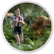 Made In China Soccer Player Round Beach Towel