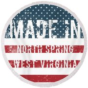 Made In North Spring, West Virginia Round Beach Towel