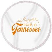 Made In Tennessee Orange Round Beach Towel