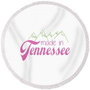 Made In Tennessee Pink Round Beach Towel