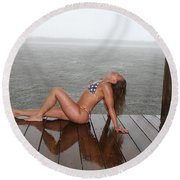 Made In The Usa Round Beach Towel