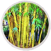 City Park Bamboo Grass Round Beach Towel