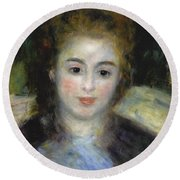 Mademoiselle Henriot Or Young Girl With A Blue Ribbon Round Beach Towel