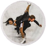 Madison Chock And Evan Bates Round Beach Towel