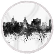 Madison Skyline Uswima09 Round Beach Towel
