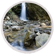 Maekutlong Waterfall Round Beach Towel