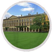Magdalen New Building Round Beach Towel