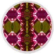 Magenta Crystals Pattern 2 Round Beach Towel