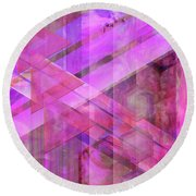 Magenta Haze Round Beach Towel