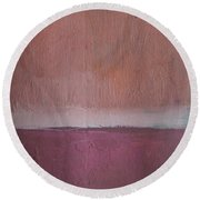 Magenta Valley  Round Beach Towel