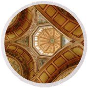 Magestic Architecture II Round Beach Towel