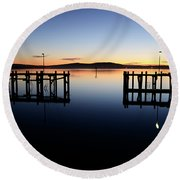 Magic At Bodega Bay California Round Beach Towel
