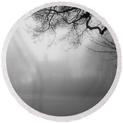 Magic Fog Round Beach Towel