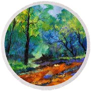 Magic Forest 79 Round Beach Towel