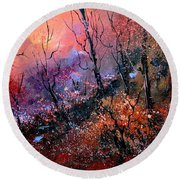 Magic Forest  Round Beach Towel