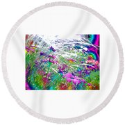 Magic Garden Round Beach Towel