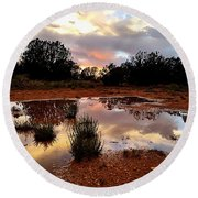 Magic In A Rain Puddle Round Beach Towel