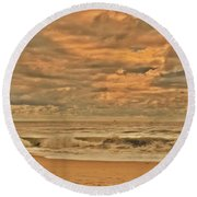 Magic In The Air - Jersey Shore Round Beach Towel