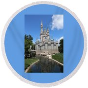 Magic Kingdom Cinderella's Castle #2 Round Beach Towel