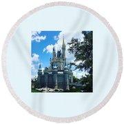 Magic Kingdom Cinderella's Castle #3 Round Beach Towel