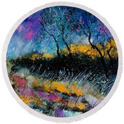 Magic Morning Light Round Beach Towel
