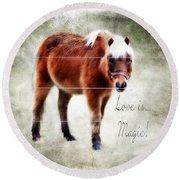 Magic Pony  Round Beach Towel