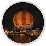 Magical Balloon Ride Round Beach Towel