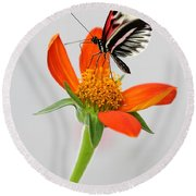 Magical Butterfly Round Beach Towel