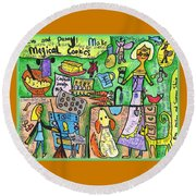 Magical Cookies A Collaboration With Eva Miller Round Beach Towel
