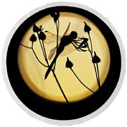 Magical Dragonfly Round Beach Towel