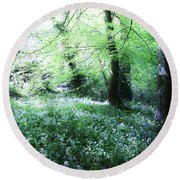 Magical Forest At Blarney Castle Ireland Round Beach Towel