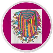 Magical Forest Land Round Beach Towel