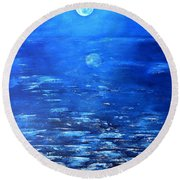 Magical Full Moon Round Beach Towel