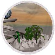 Magical Island Round Beach Towel