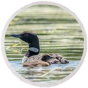 Magical Loons Round Beach Towel