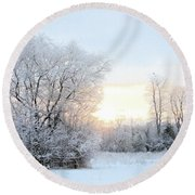 Magical March Morning Round Beach Towel