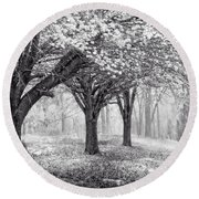Magical Meadow  Round Beach Towel