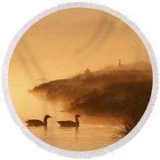 Magical Misty  Morning Round Beach Towel